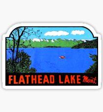 Flathead Lake Montana Vintage Travel Decal Sticker