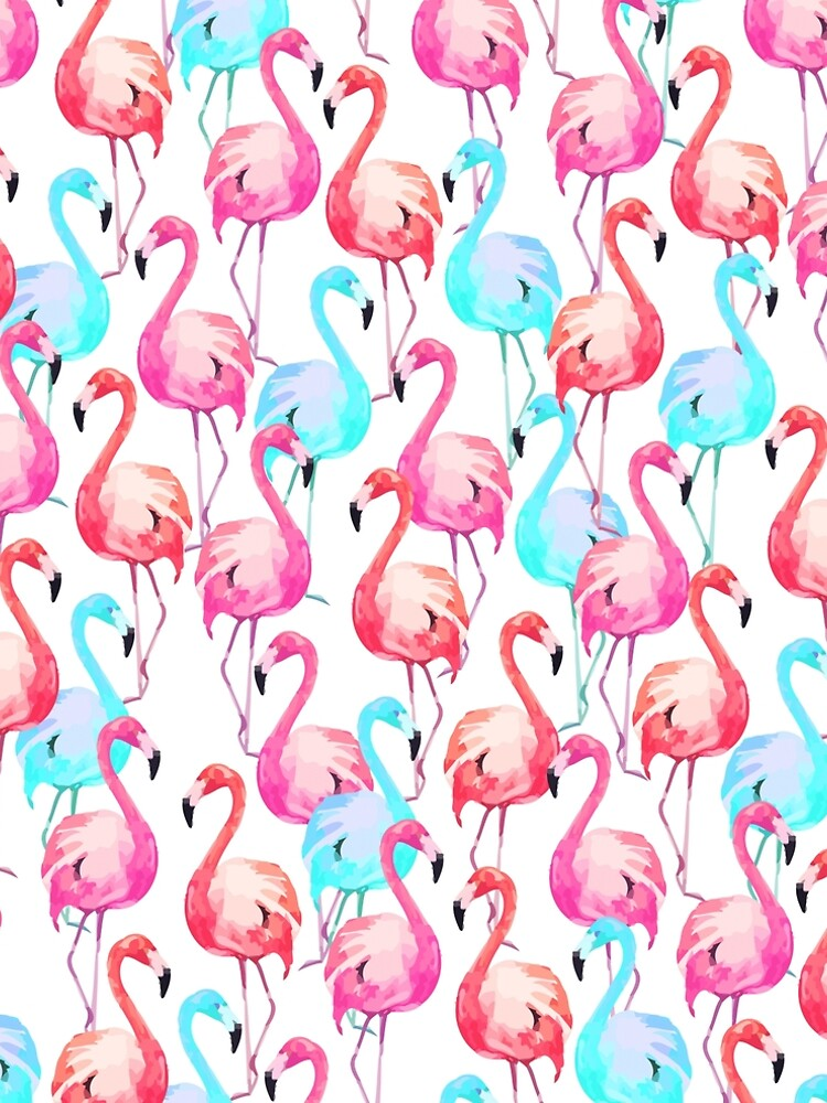 Flamingo, Flamingos pattern, Print, Tropical, Bird, Pattern, Funny art, Modern art, Wall art, Print, Minimalistic, Modern by juliaemelian