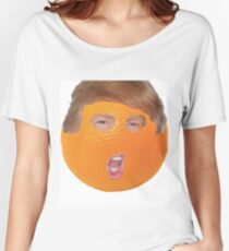 Donald Trump Funny Orange Face Women's Relaxed Fit T-Shirt