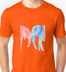 Elephants in love Unisex T-Shirt