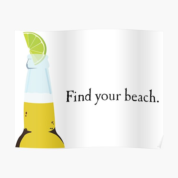 Corona Bottle and Lime Poster