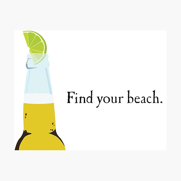 Corona Bottle and Lime Photographic Print