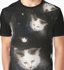 Cat heads in space Graphic T-Shirt