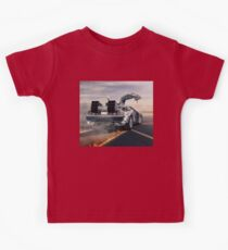 delorean time machine oil painting Kids Clothes