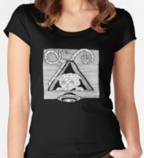 Cryptic Cat by Allie Hartley  Women's Fitted Scoop T-Shirt