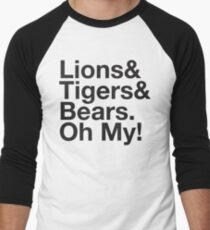 THE WIZARD OF OZ Lions and Tigers and Bears Oh My! Ampersand Men's Baseball ¾ T-Shirt
