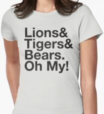 THE WIZARD OF OZ Lions and Tigers and Bears Oh My! Ampersand Women's Fitted T-Shirt