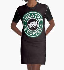Théâtre et café. Robe t-shirt