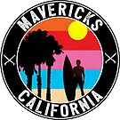 Surfing Mavericks Maverick's California Surf Surfboard Waves Half Moon Bay 3 by MyHandmadeSigns