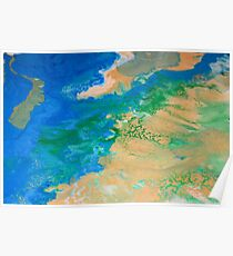 Mother Earth Abstract Painting Poster