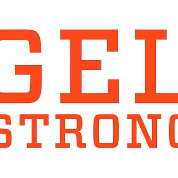 Gel Strong - Orange Text by gelstrong