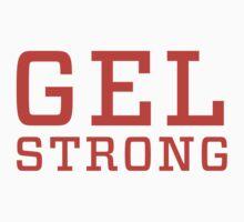 Gel Strong - Orange Text | Unisex T-Shirt