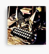 Antique Typewriter Oliver #9 Canvas Print