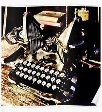 Antique Typewriter Oliver #9 Poster