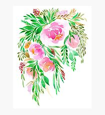 Flowers in Watercolor Photographic Print