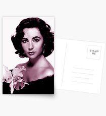 Elizabeth Taylor old colour Postcards