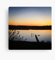 Osprey and Heron at Sunset Canvas Print
