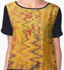 yellow abstract sea Chiffon Top