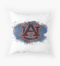 Auburn University Watercolor Logo Throw Pillow