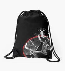 Tesla God Of Thunder Drawstring Bag