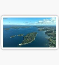 Thousand Islands from above  Sticker