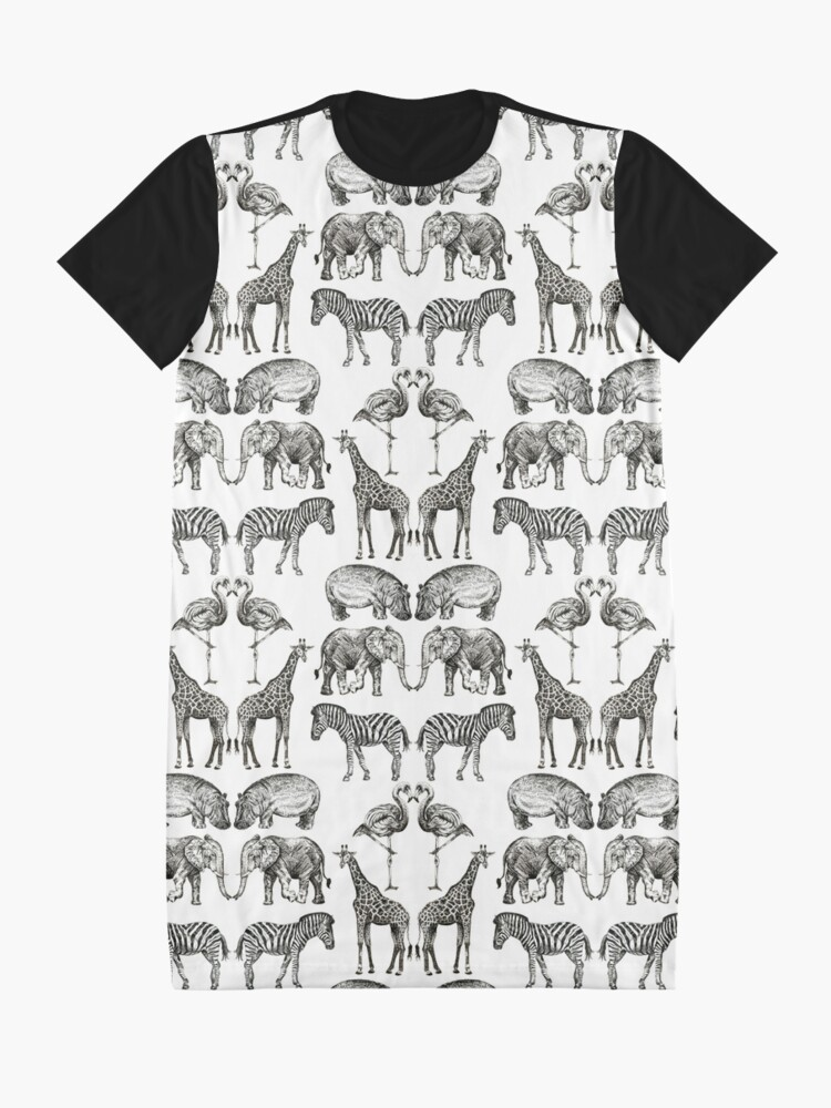 Alternate view of Couples on Safari Graphic T-Shirt Dress