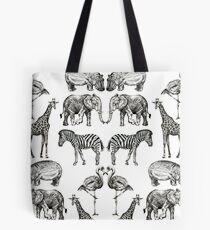 Paare auf Safari Tote Bag