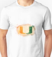 University of Miami Watercolor Logo Unisex T-Shirt