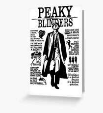 Peaky Blinders Quotes Greeting Card