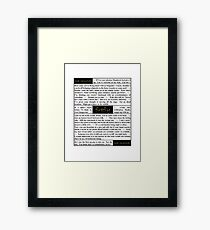 Quotes from Firefly - Captain Malcolm Reynolds (1 of 2) Framed Print