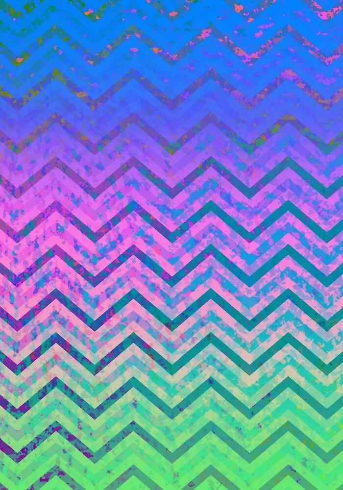 Zig Zag Chevron Pattern by MEDUSA GraphicART