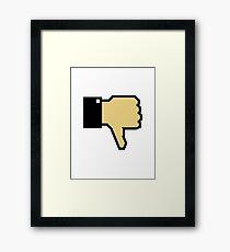 I don't like this! (Thumb Down) Framed Print