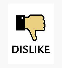 Dislike (Thumb Down) Photographic Print
