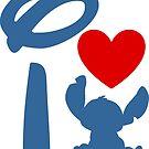 I Heart Stitch (Inverted) by ShopGirl91706