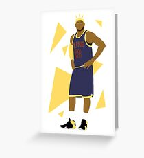 "LeBron James ""The King"" Greeting Card"