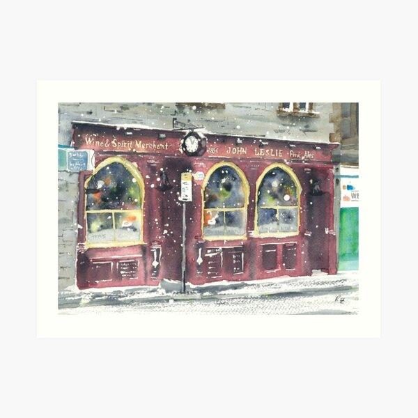 Leslie's Bar (snow) Art Print