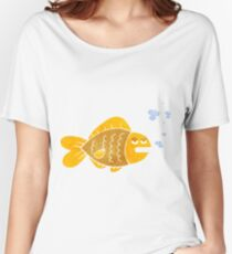 retro cartoon funny fish Women's Relaxed Fit T-Shirt