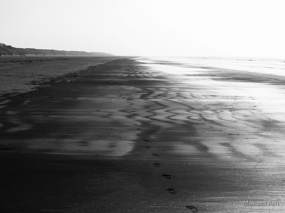 Footprints in the sand by Maxwell Ash