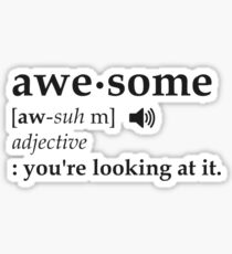 Definition of Awesome You're Looking at it Sticker