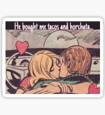 love is tacos and horchata Sticker