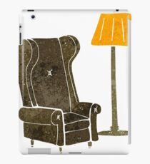 retro cartoon lamp and old chair iPad Case/Skin