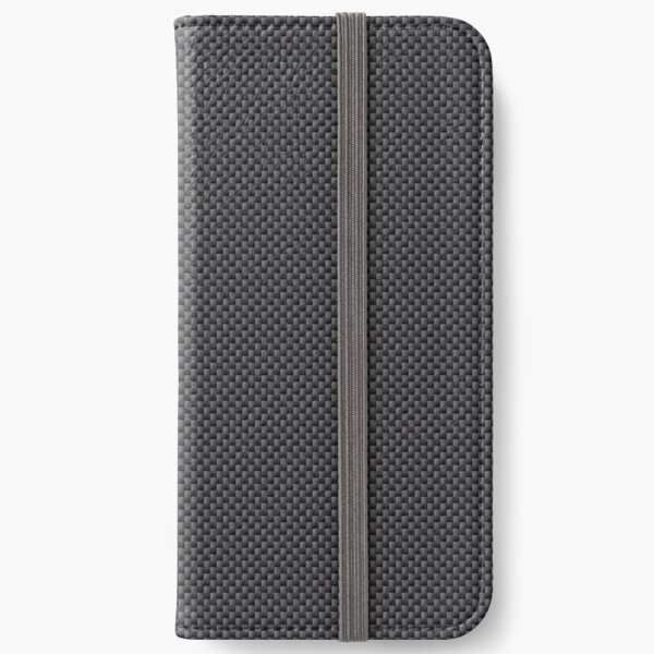 Simulated Black and Grey Carbon Fiber iPhone Wallet