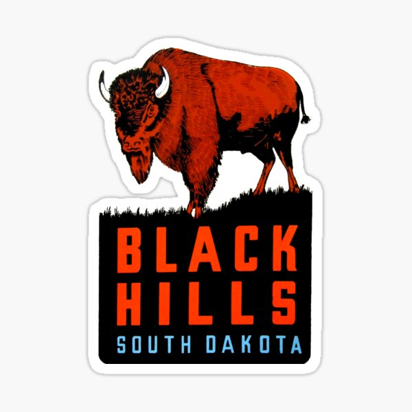 Black Hills South Dakota Vintage Travel Decal Sticker