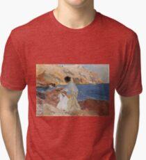 Joaquin Sorolla Y Bastida - Clotilde And Elena On The Rocks, Javea Tri-blend T-Shirt