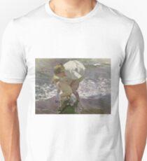 Joaquin Sorolla Y Bastida - Bathing On The Beach Unisex T-Shirt
