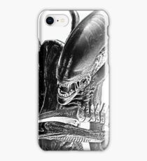 Xenomorph Black and White iPhone Case/Skin