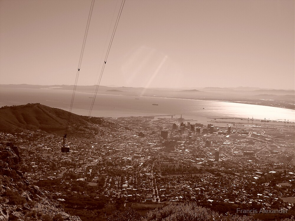 Cape Town from the sky by Francis Alexander