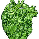 Green heart of heart chakra by maggiepuffle