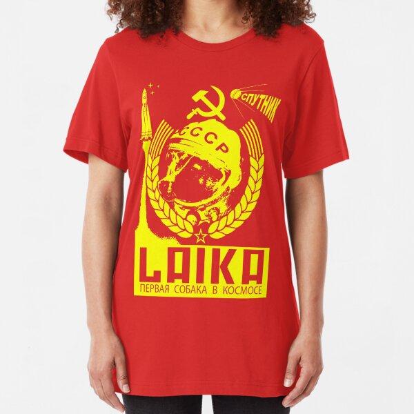 Laika the Cosmodog Slim Fit T-Shirt
