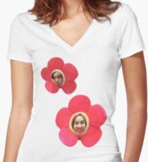 Flower J-Hope || BTS Women's Fitted V-Neck T-Shirt